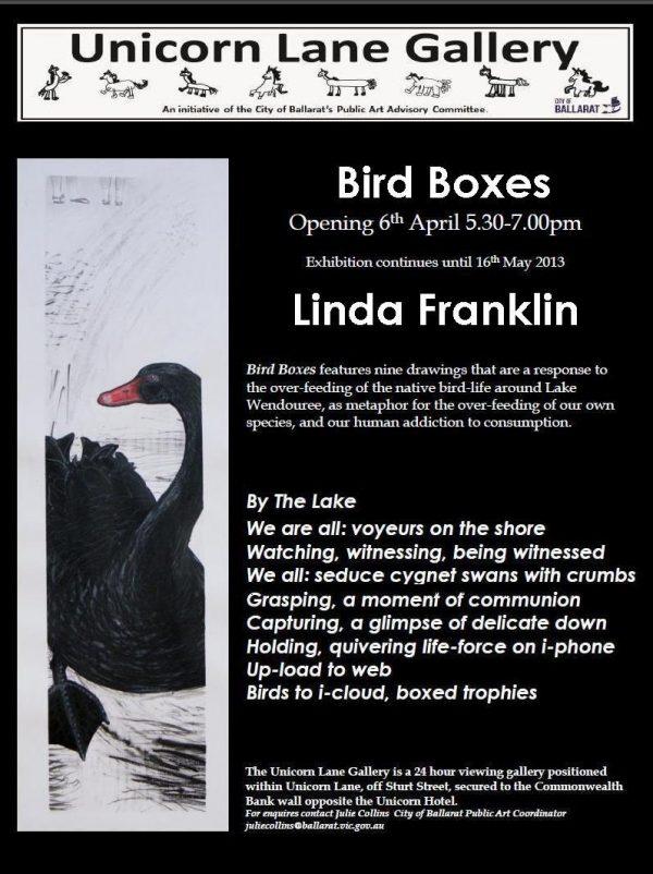 Bird Boxes exhibition flyer